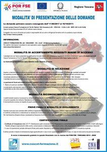 Locandina 2 Barman cescot formazione, corso gratuito finanziato da Por Fse Toscana 2014-202