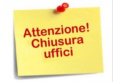 ATTENZIONE ! Chiusura uffici Confesercenti