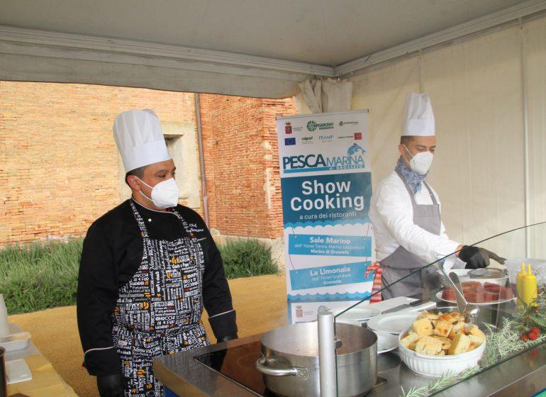 show cooking pescato locale